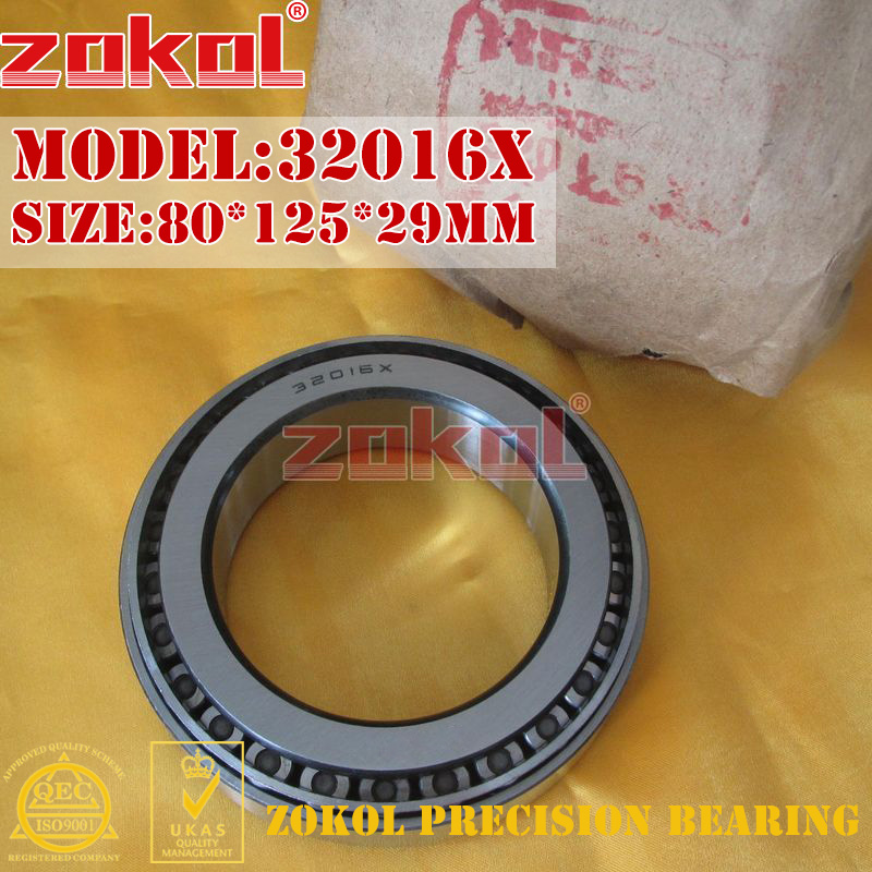 ZOKOL 32016 X bearing 32016X 2007116E Tapered Roller Bearing 80*125*29mm generator speed controller 4914091