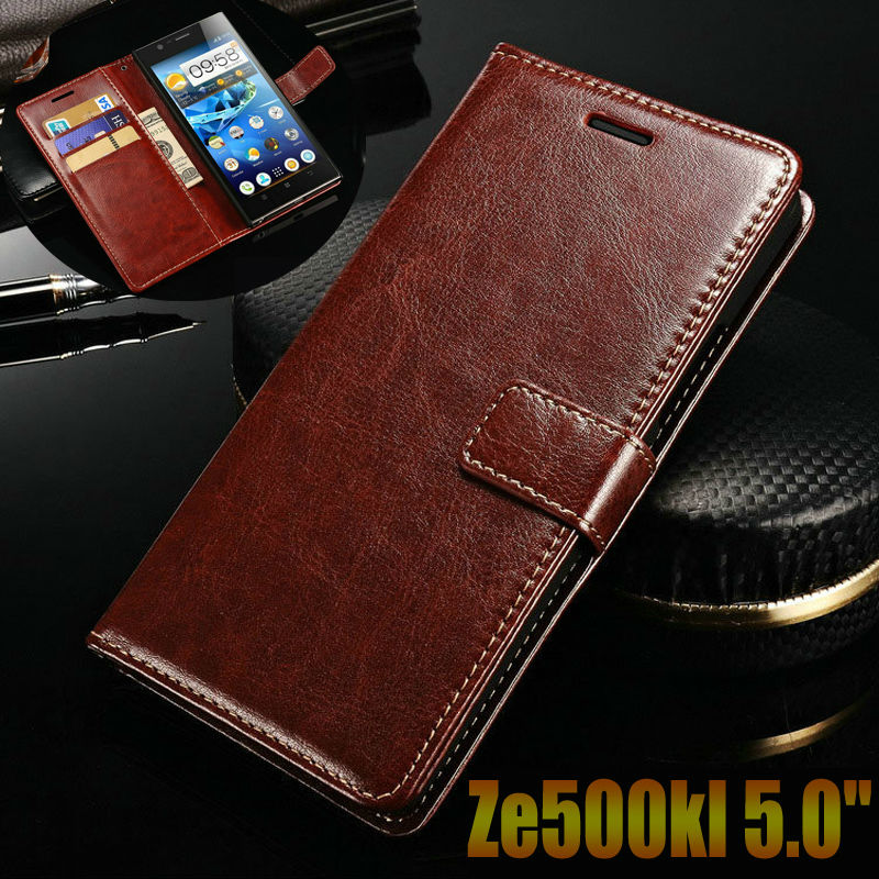 Asus Zenfone 2 Laser ZE500kl case cover luxury leather flip Phone Bags for asus ze500kl ZE500KG 5.0 wallet Phone Bags Case cover