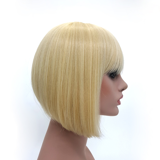 Lady Gaga S Hairstyle Short Blonde Bob Wig With Bangs For White