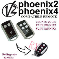 Copy V2 Phoenix2 V2 Phoenix4 Rolling Code Remote Control 433 92mhz With Battery
