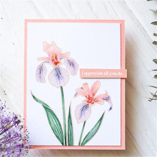 YaMinSanNiO Flower Stamps and Dies Scrapbooking Card Making Christmas Greetings Photo Craft Stamp Sets with New
