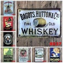 Whiskey Targa in metallo Ferro Placca con Logo Autoadesivo Della Parete  Della Pittura del Metallo Dell annata Segno Bordo Piatti. ab363461f457