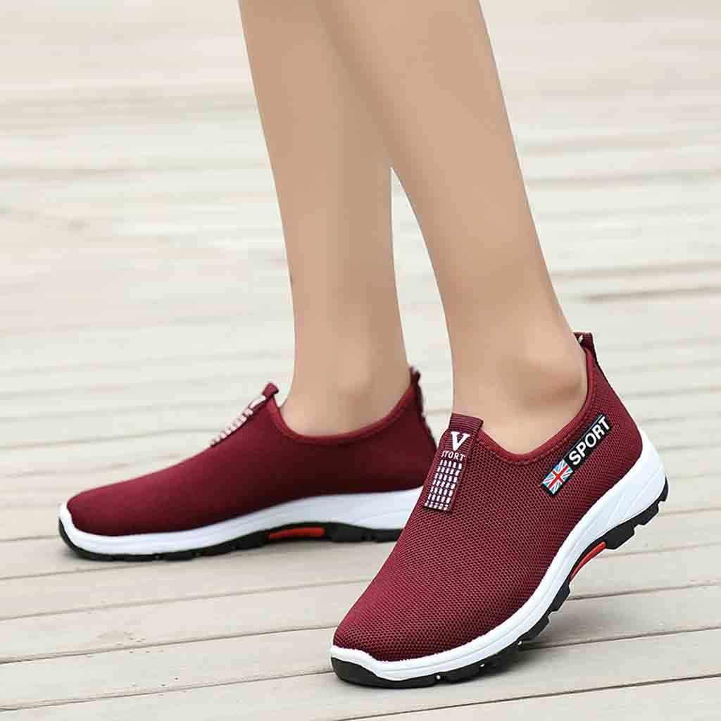 KANCOOLD Frauen Turnschuhe Beiläufige Laufende Bequeme Schuhe Mesh Atmungsaktive Tragen-beständig Leichte Grundlegende Schuhe