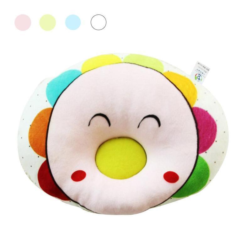Cute baby pillow Cartoon flower infant newborn anti roll pillow nursing cushion Baby pillow to prevent flat head Xmas gift D25