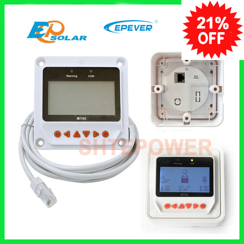 Solar Controller Remote Meter MT 50 for TRACER BN Series MPPT Tracer 2215BN 3215BN 4215BN itracer6415ND sm206 solar power meter for solar research