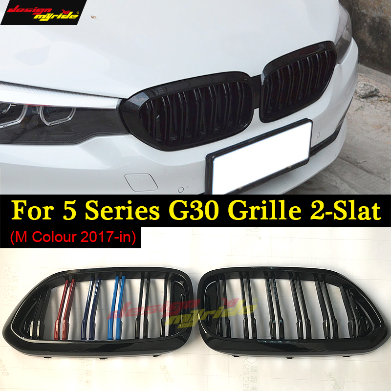 for BMW g30 g38 M5-Style Kidney ABS Plastic M colour Auto Car styling Front Racing Grill for New 5 Series 520d 530i 530d 525i 3d abs car styling power m performance 520d 525d 528d 530d 535d 550d car rear sticker for bmw 3 series 5 series 7 series