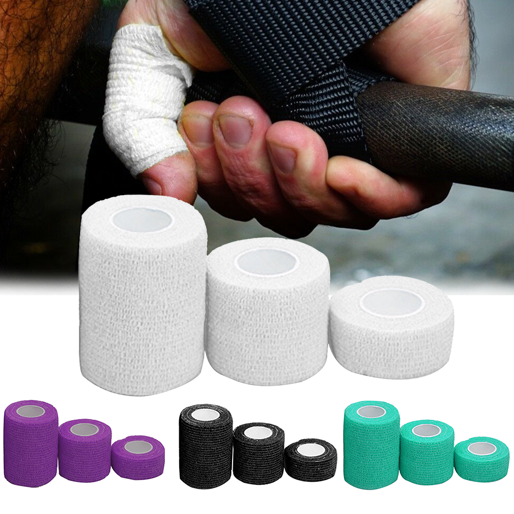 3pcs Pain Relief Self Adhesion Sports Tape Breathable Thumb Finger Elastic Athletic Weightlifting Bandage Care Strain Knee