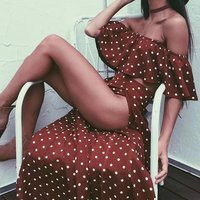 BKLD Womens Two Piece Sets 2018 Summer Bohemian Polka Dot Printed Crop Tops And High Split Skirt Set Club Outfits Tracksuit