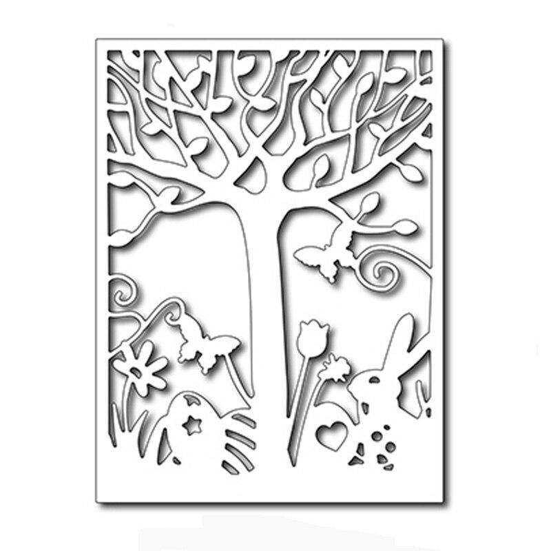 Easter Scene Card Panel Metal Cutting Dies Scrapbooking
