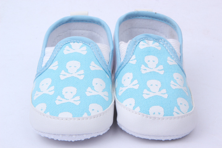 New Infant Baby Boy Girl Toddler Shoes Kid Skull Soft Sole Anti-Slip Prewalker Shoes New