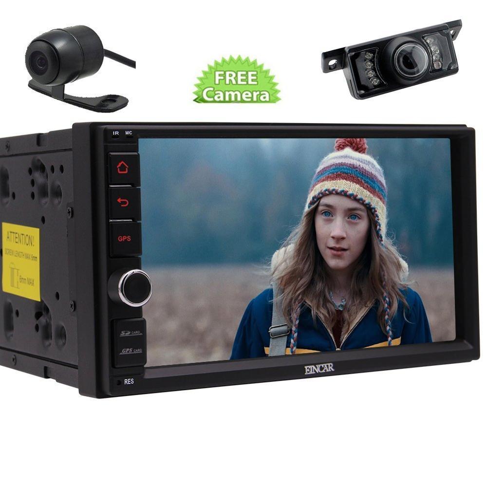 Фронтальная камера + eincar 7 дюймов двойной 2 DIN стерео Радио Anroid 6.0 GPS навигации 1080 P видео bluetooth автомобиля развлечения