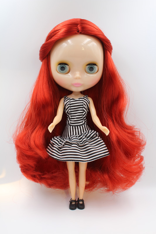 Free Shipping Transparent RBL-341T DIY Nude Blyth Doll Birthday Gift For Girl 4 Colour Big Eyes With Beautiful Hair Cute Toy