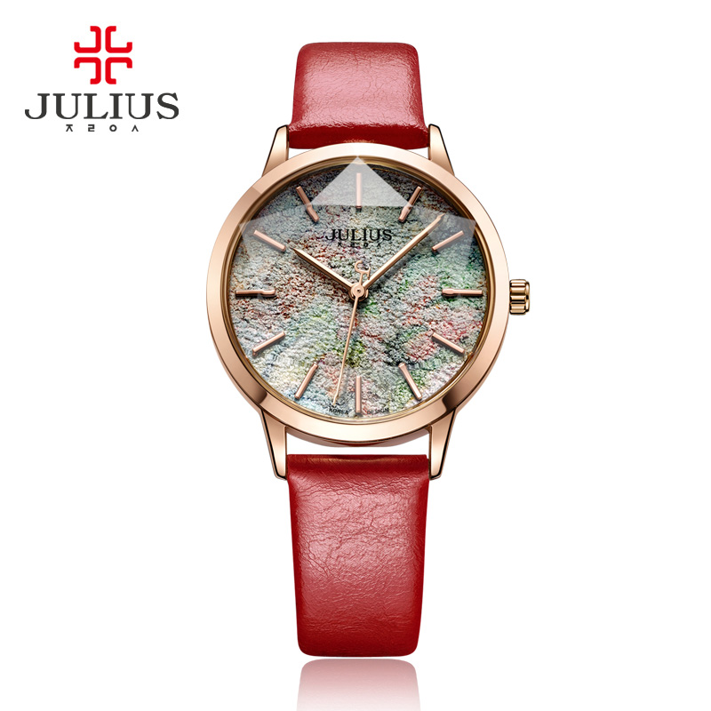 2017 JULIUS Brand Luxury Lovers Quartz Watch Fashion Casual Watches 30m Waterproof Leather for Men Women Dress Wristwatches Gift keep in touch couple watches for lovers luminous luxury quartz men and women lover watch fashion calendar dress wristwatches