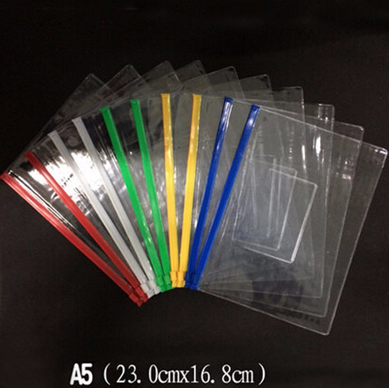 claro saco de plástico translúcido pasta a4