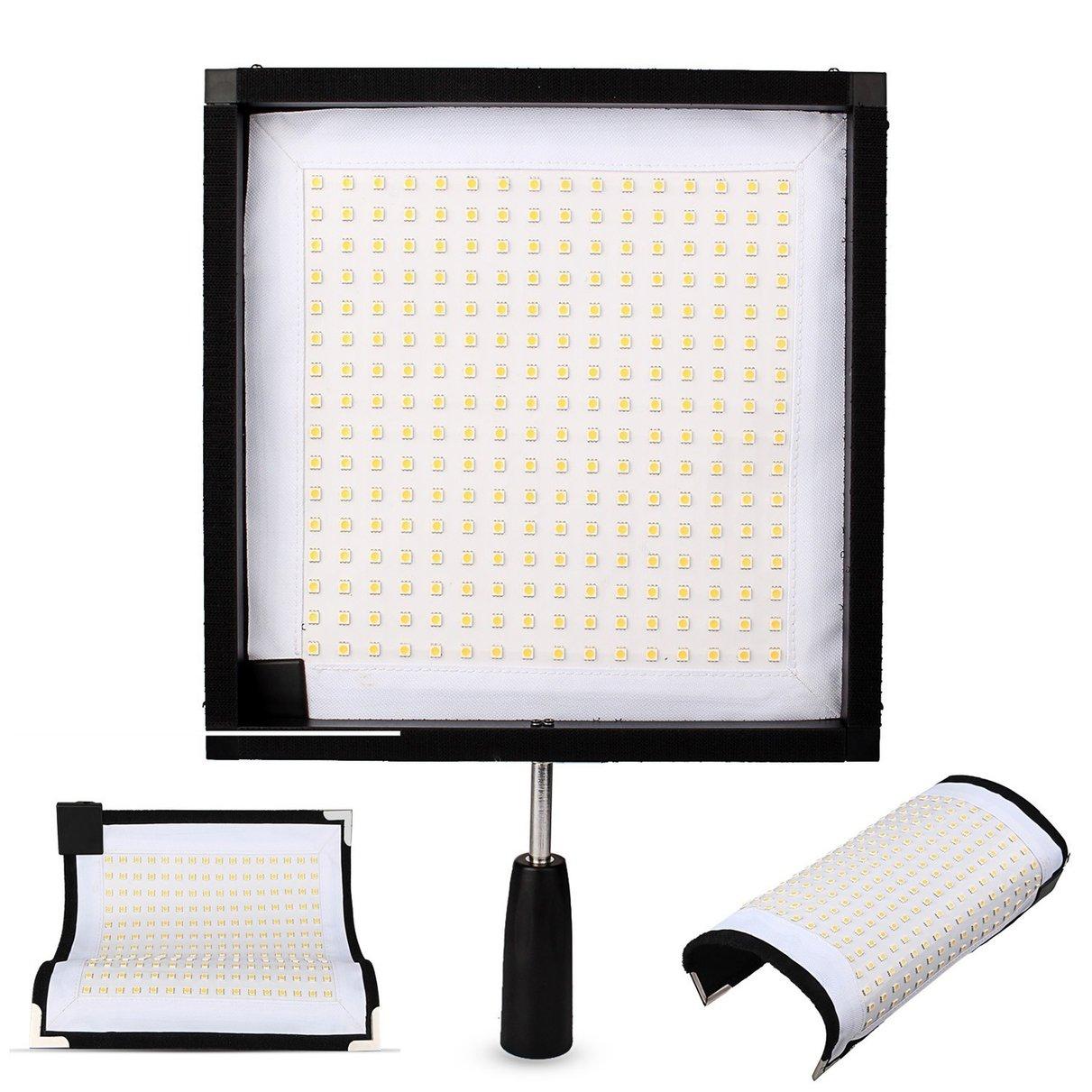 Travor FL 3030 30x30cm Flex Mat 5500K 256 LED Flexible Moldable LED Video Fabric Light Slim Ultralight Panel with 2.4G Remote