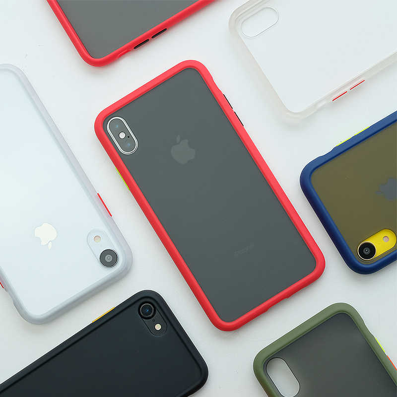 SUAIOCE Shockproof Armor Case Voor iPhone X XS Max XR Case Transparante TPU Cover Voor iPhone 7 8 Plus luxe Siliconen Case