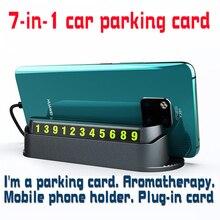 Car mobile phone rack Temporary Parking Number Card Phone Holder  Car Parking Number with Air Freshener Perfume Aroma александр григорьев волшебныйлес сказка