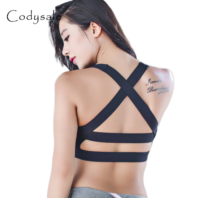 Codysale Women Sexy Lingerie Bras Push Up Padded Fitness Workout Bras High  Impact Activewear bralette Shockproof