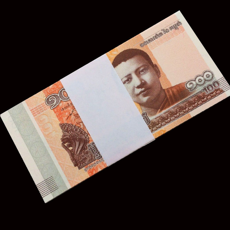 Full Bundle 100 PCS, Cambodia 100 Riels, 2014 /2015, P-New, UNC, Lot Pack, Asia,collection Gift, Original Real, Asian Paper Note
