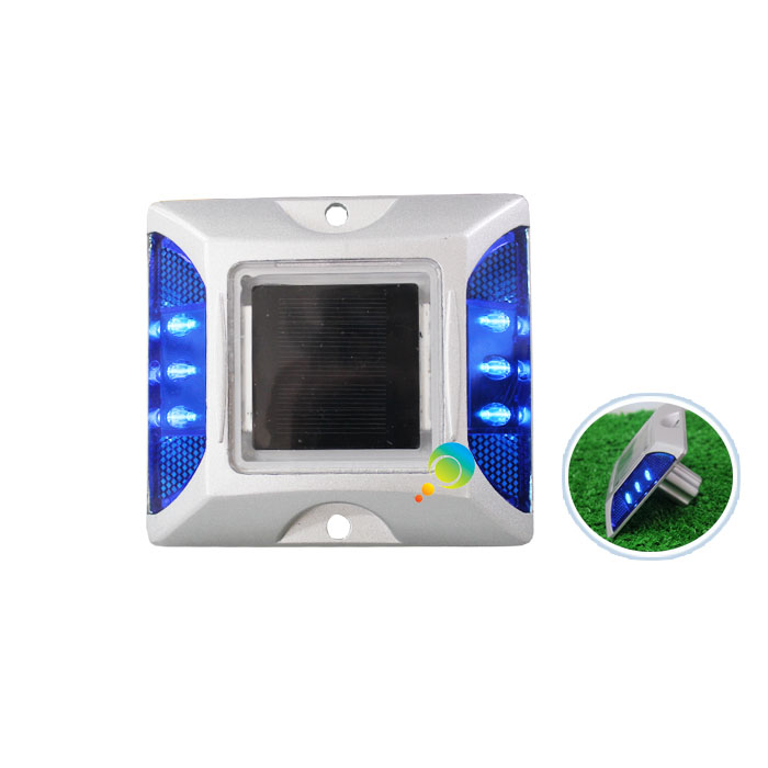 IP68 Blue LED Flashing Light CE Approed Cat Eye Solar Power Road Stud