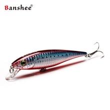 Banshee 100mm 16g New Black Minnow Jerkbait Fishing Lure Pike For Wobbler Trolling Stick Bait Hard Floting Artificial Baits