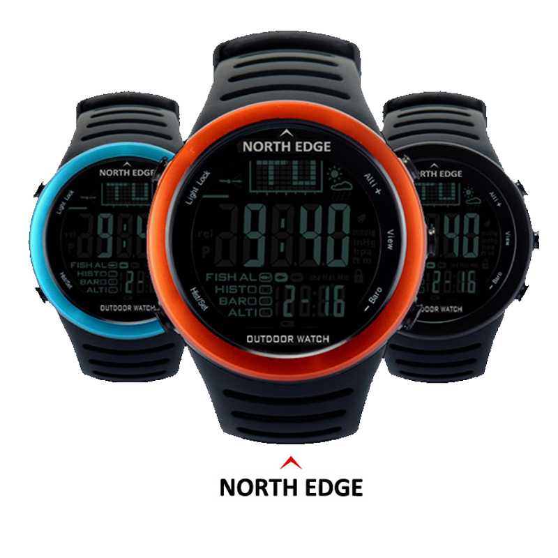 NORTH EDGE Fishing Altimeter Barometer Thermometer Altitude Men Smart Digital Watches Sports Climbing Hiking Clock Montre Homme north edge men sports fishing altimeter barometer thermometer weather forecast pedometer watches digital hiking climbing watch