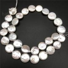 Commerci allingrosso FAI DA TE biwa bianco reborn keshi Collana di perle Dacqua Dolce Genuino Naturale branelli Allentati 10 13MM 15 pollici