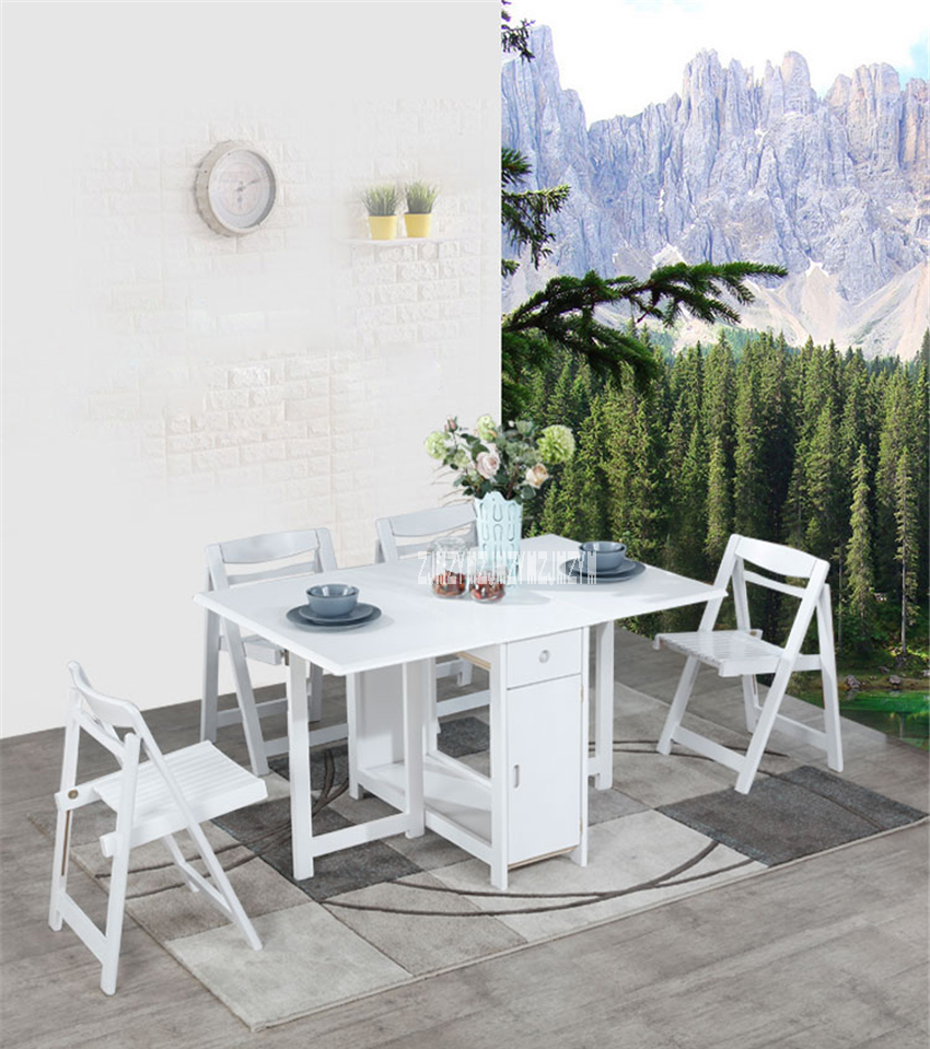 - Household Solid Wood Table Chair Set Modern Minimalist Kitchen