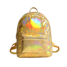 JIANXIU Women Holographic Bag Backpack Laser Daypack For Teenage Girls Students School Bag Backpack PU Leather Hologram Bags недорого