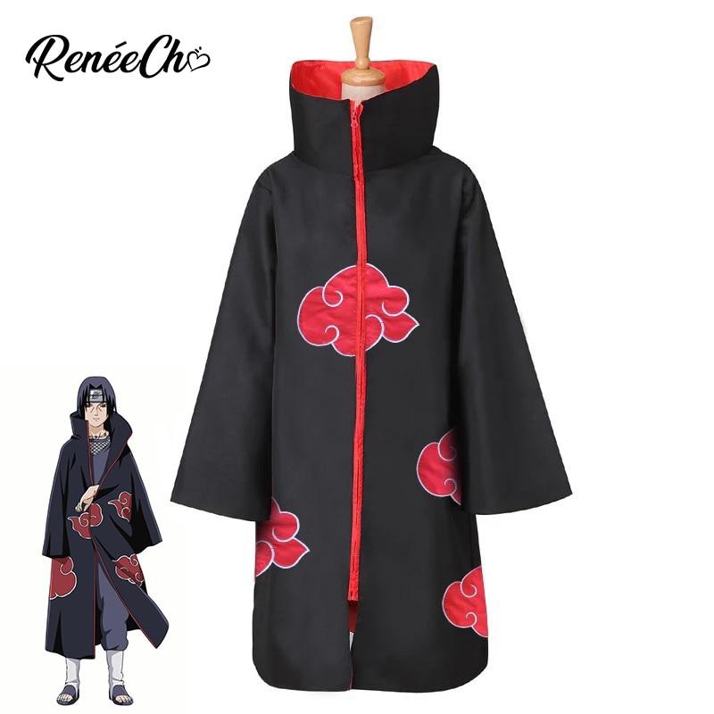 Anime Cosplay Naruto Akatsuki Kakuzu Cosplay naruto costumes halloween costume long black robe 2018 cheap naruto jacket