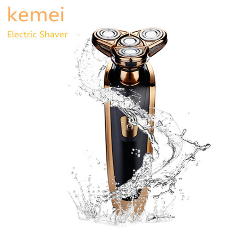 Kemei KM-363 Rechargeable Electric Shaver Men 3 In 1 4 Floating Blade Washable Shaving Razor Face Care Beard Trimmer Machine цена
