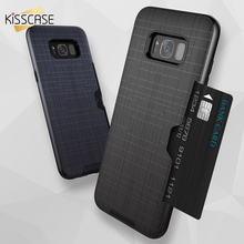 KISSCASE For Samsung Galaxy S8 Plus Case Card Slot Ultra Thin S7 Edge Covers Protective PC Back Coques