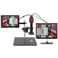 new arrival 1 Set Of EU/US Plug Digital Microscope Kit 14MP 1080P HD HDMI VGA Digital Video Industrial Microscope Camera|  -