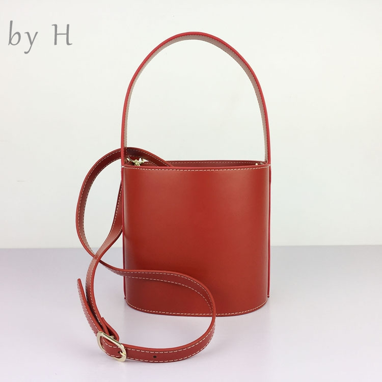 by H round silhouette bucket bag bonsai handcarft genuine leather womens fashion totes vintage chic shoulder bag fashion blogersby H round silhouette bucket bag bonsai handcarft genuine leather womens fashion totes vintage chic shoulder bag fashion blogers