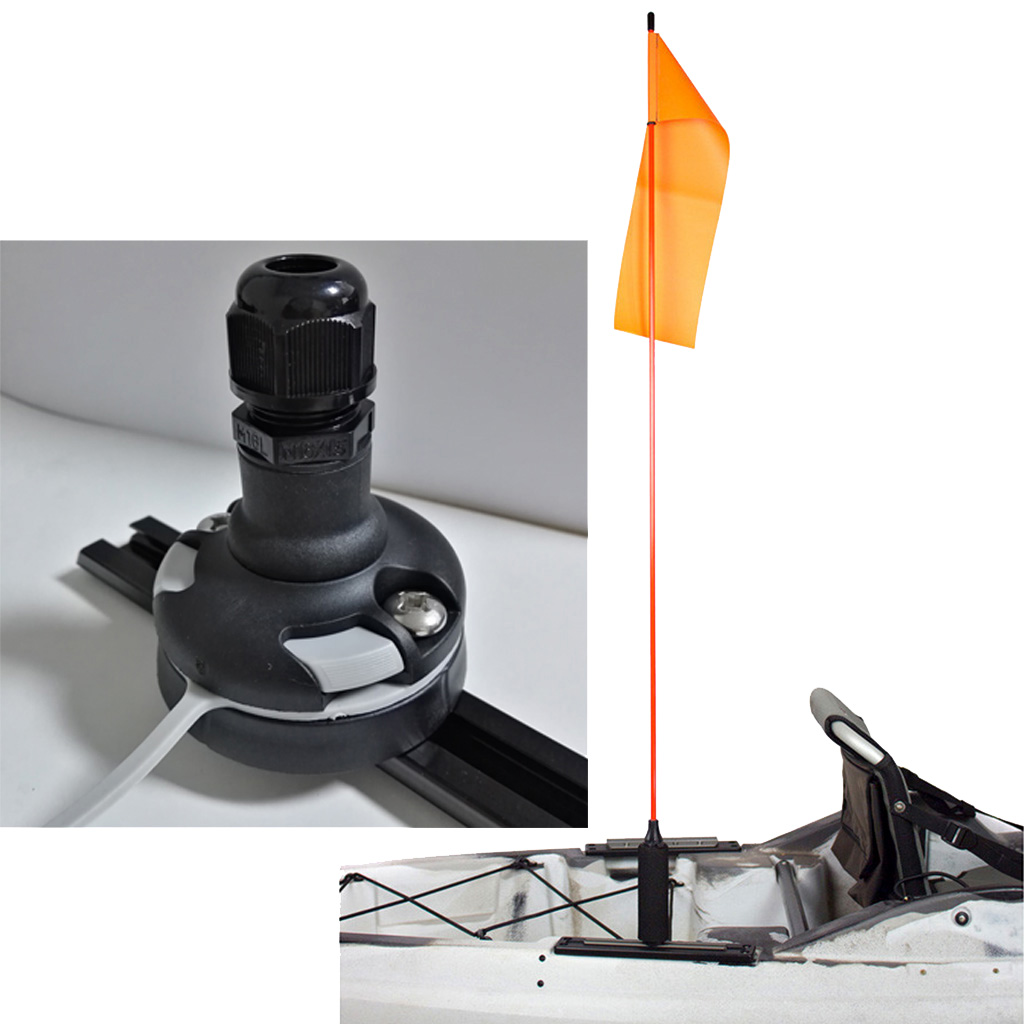 Kayak Flag Base Rail Mount With Screws and Gasket Hardware Support Replacement For Fishing Boat Marine Yacht in Rowing Boats from Sports Entertainment