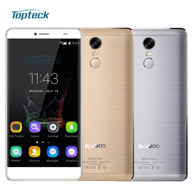 "BLUBOO Maya Max 4G 6.0"" HD Fingerprint 4200mAh OTG Smartphone Android 6.0 MTK6750 Octa Core Cellphone 3GB+32GB 13MP Mobile Phone"