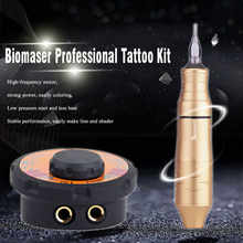 Biomaser Tattoo Power Supply Kit Rotary Pen With Cartridges Tattoo Machine Set Professional Adjust Voltage Power Supplies Tools