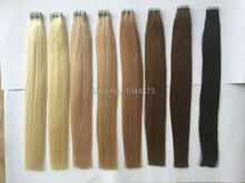 6A Tape Hair Extensions Russian Hair Double Drawn Natural Remy Hair 2.5g/pc 100g/pack Silky Straight Remy Hair Tape Skin Weft