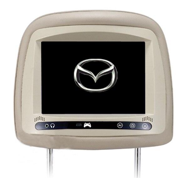 1 пара сенсорная кнопка 7 подголовник автомобиля монитор плеер с HD цифровой экран для Mazda CX5 Mazda 6 Mazda 5
