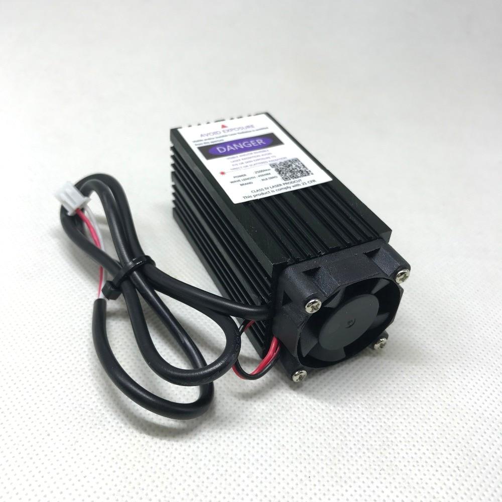 2500mw 450NM incisione modulo laser viola blu, 2,5w diodo tubo laser - Parti di macchine per la lavorazione del legno - Fotografia 4