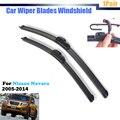 Windshield Bracketless Wiper Blades Auto Janela do carro de Borracha Macia Para Nissan Navara 2005-2009