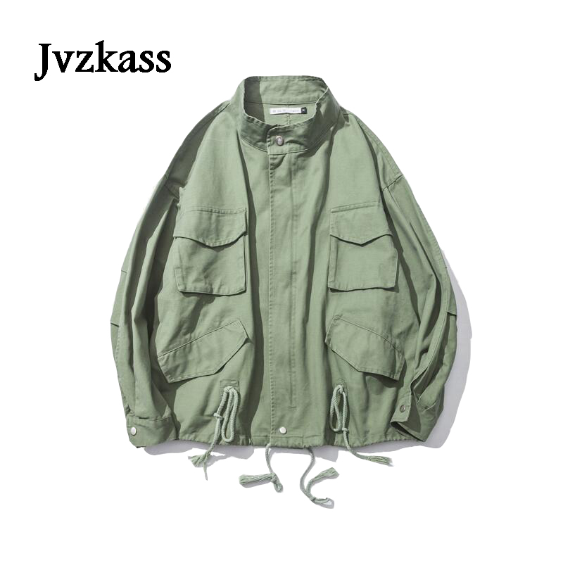 Jvzkass version oversize ultra loose collar jacket tide neutral womens BF wind casual tooling spring Z182