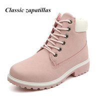 New 2016 Autumn Early Winter Shoes Women Flat Heel Martin Boots Fashion Women S Boots Brand