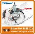 KEIHIN 27 мм Карбюратор С Ускорительного Насоса Ускоритель Гонки Производительность 125cc 150cc Карбюратор + Dual Throttle Cable