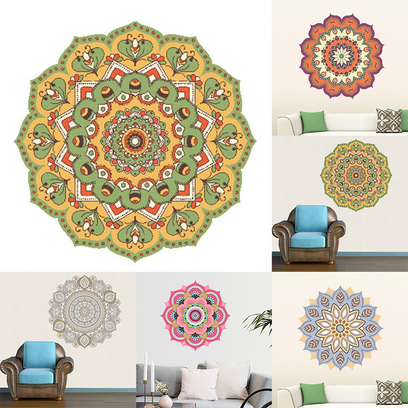 Diy WallSticker Mandala Three-dimensional Wall Sticker living room bedroom study Self-adhesive Removable Home Decoration home decoration removable quote wall art sticker