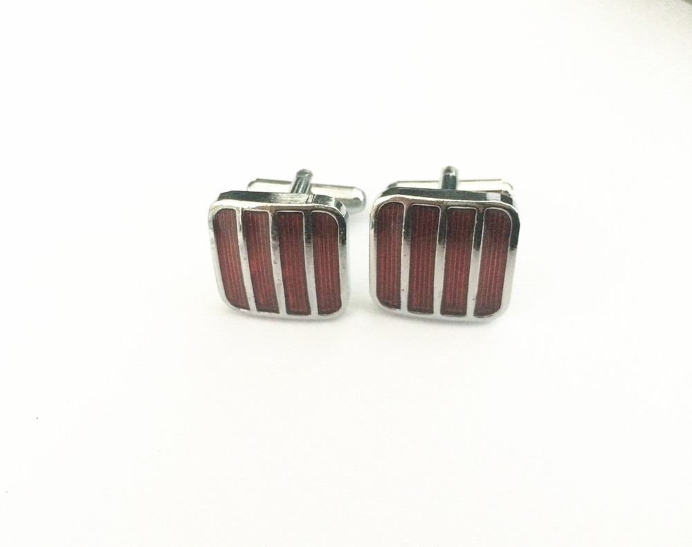 AB45-RD COLORFUL FASHIONABLE CUFFLINKS PACKED  RED COLOR