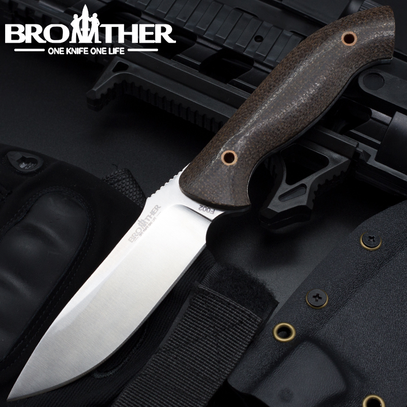 Frère F002 Bushcraft Lame Fixe couteau Droit Tactique couteaux Kydex Chasse Survie EDC Outil Collection haute qualité
