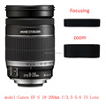 Lens Zoom and focus Rubber Ring /Rubber Grip Repair Succedaneum For Canon EF-S 18-200mm f/3.5-5.6 IS lens