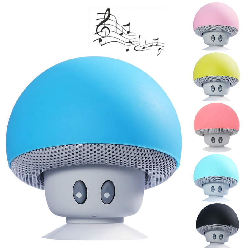 Wireless Bluetooth Mini Speaker Mushroom Waterproof Silicon Suction Cup Handfree Holder Music Player for Iphone ipad Smart phone