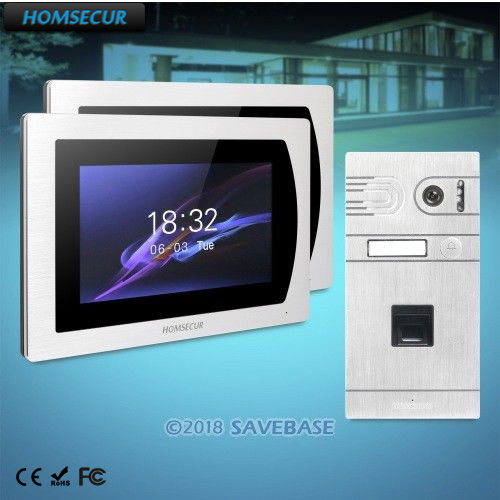 HOMSECUR 7 Hands-free Video Door Entry Security Intercom Aluminium Alloy Camera with Motion Detection